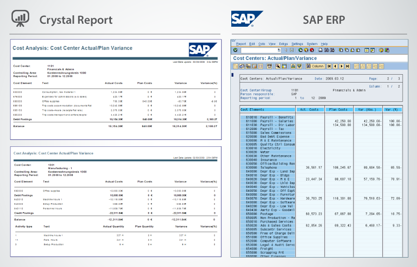 iConnext Consulting | Crystal report, SAP ERP
